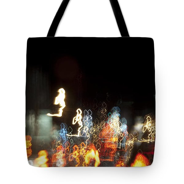 Night Forest - Light Spirits 1 Of 1 Tote Bag