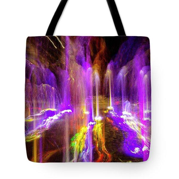 Night Fountain  Tote Bag
