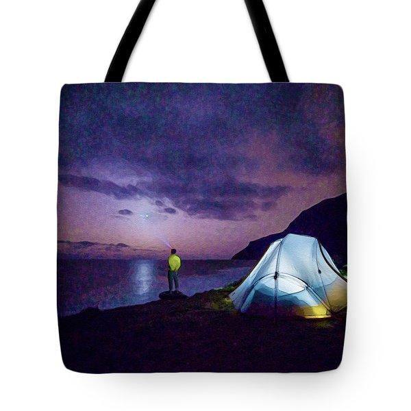 Night Gazer Tote Bag