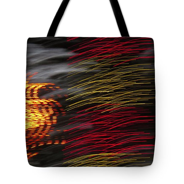 Tote Bag featuring the digital art Night Glow by Kathleen Illes