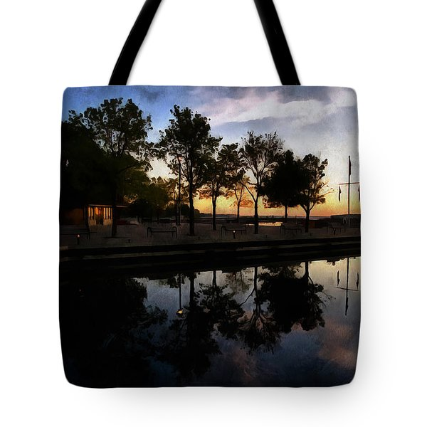Night Harbour Tote Bag