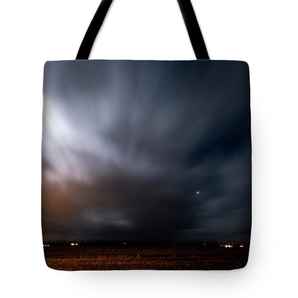 Tote Bag featuring the photograph Night In Iceland by Dubi Roman