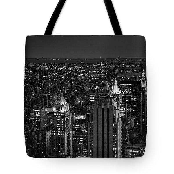 Night In Manhattan Tote Bag