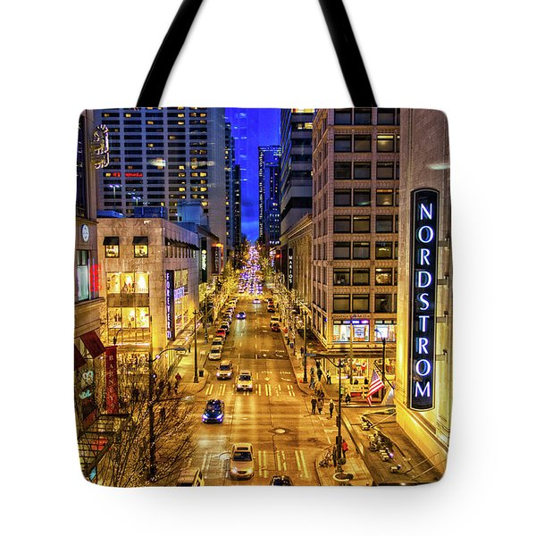 Night In Seattle Tote Bag