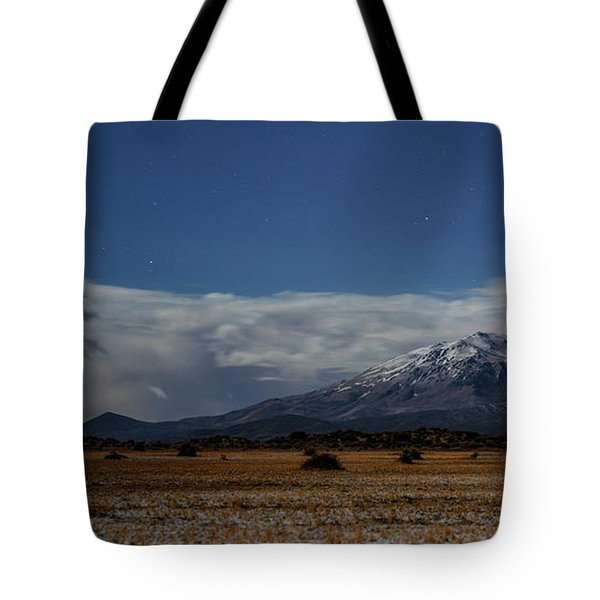 Tote Bag featuring the photograph Night In The Alvord Desert by Cat Connor