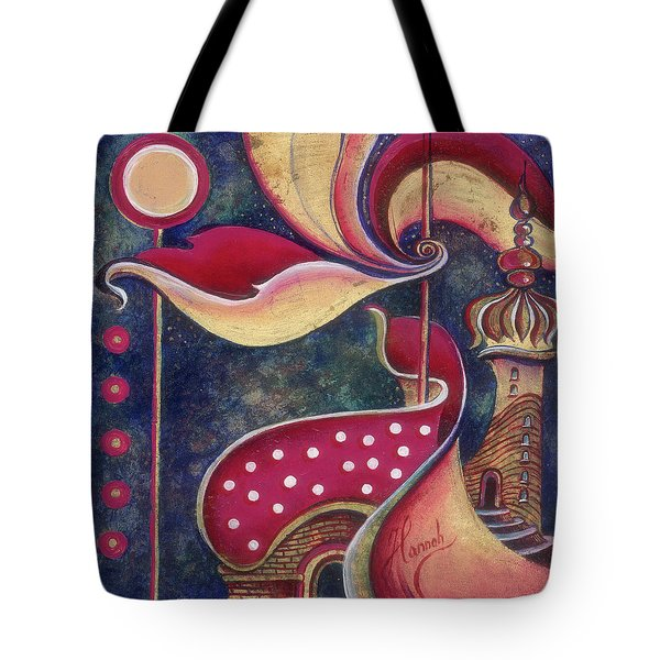 Night In The City Of Gods Tote Bag by Anna Ewa Miarczynska