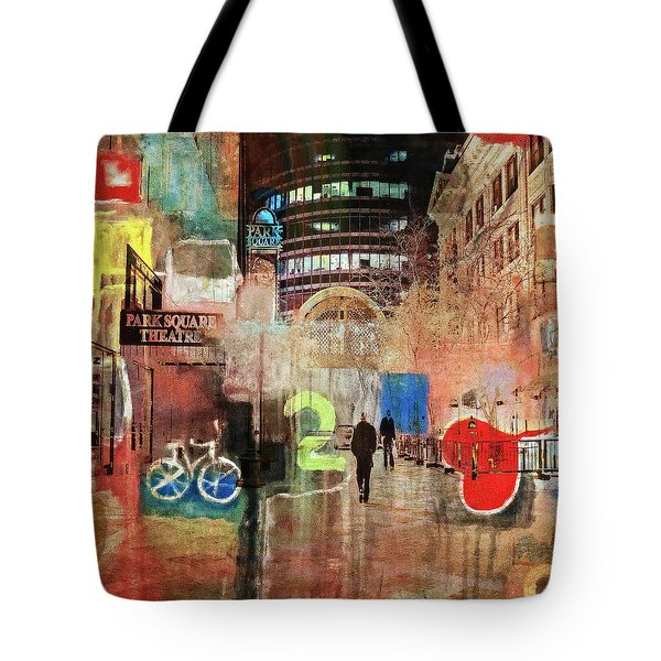 Tote Bag featuring the photograph Night In The City by Susan Stone