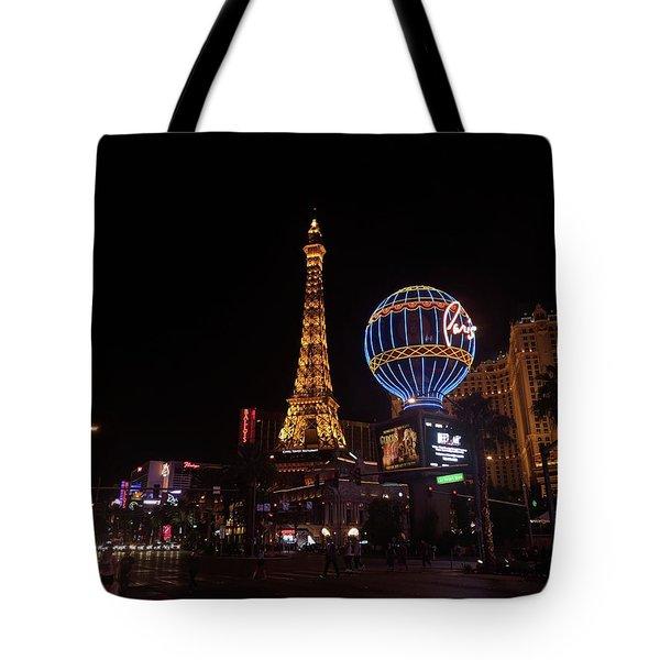 Night In Vegas Tote Bag