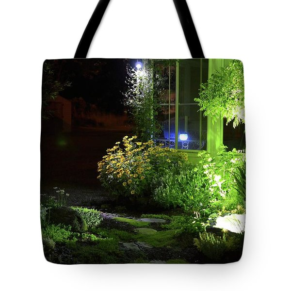 Night Light Garden  Tote Bag