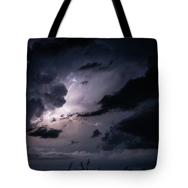 Night Lightening Tote Bag