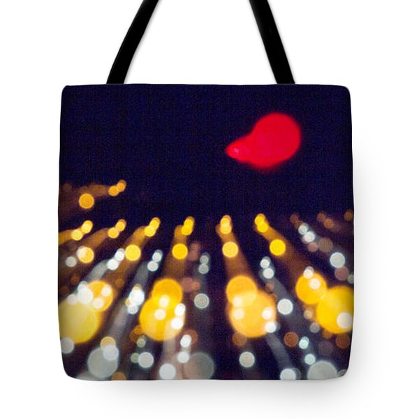 Night Lights During A Party Tote Bag by Odon Czintos