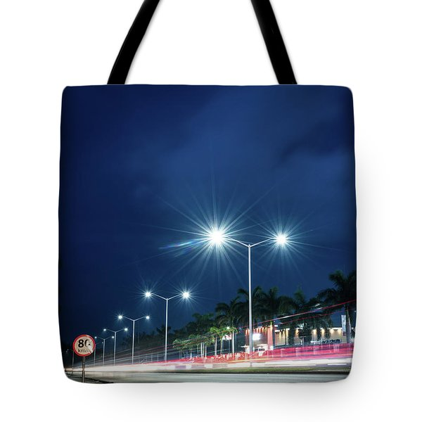 Night Lights In Montego Bay City Tote Bag