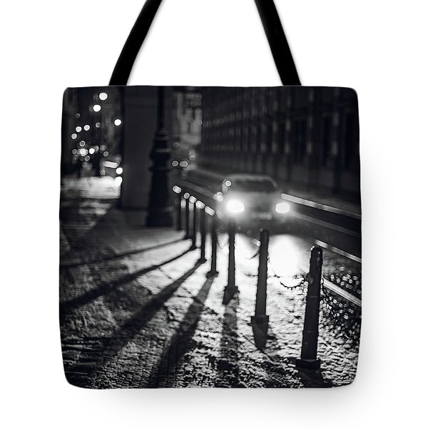 Tote Bag featuring the photograph Night Lights. Prague by Jenny Rainbow