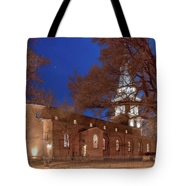 Night Lights St Anne's In The Circle Tote Bag