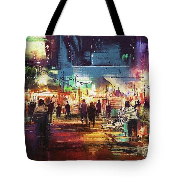 Night Market Tote Bag