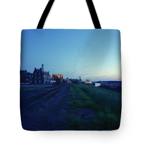 Night Moves On The Mississippi Tote Bag