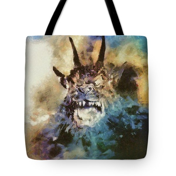 Night Of The Demon, Vintage Horror Tote Bag
