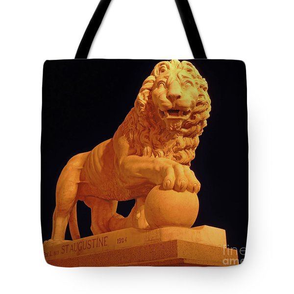 Night Of The Lion Tote Bag
