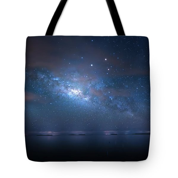 Tote Bag featuring the photograph Night Of The Milky Way by Mark Andrew Thomas