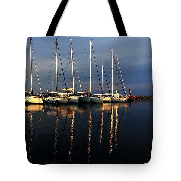 Night On Paros Island Greece Tote Bag
