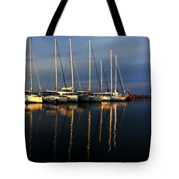 Night On Paros Island Greece Tote Bag