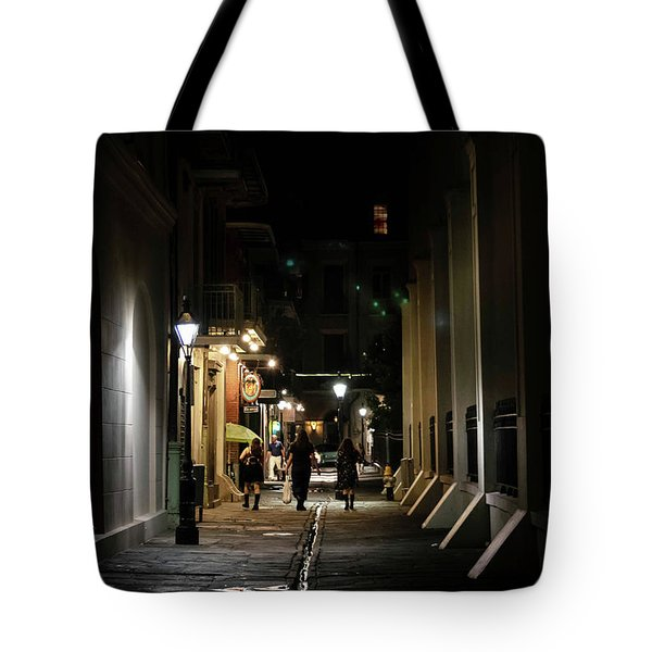 Night On Pirate Alley Tote Bag