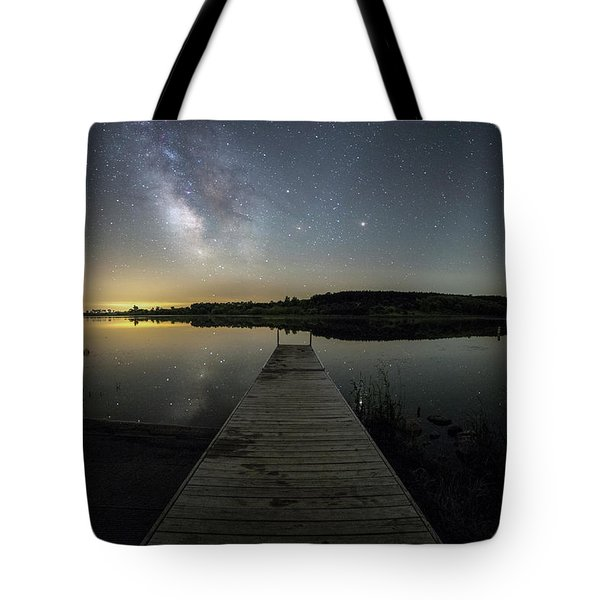 Night On The Dock Tote Bag