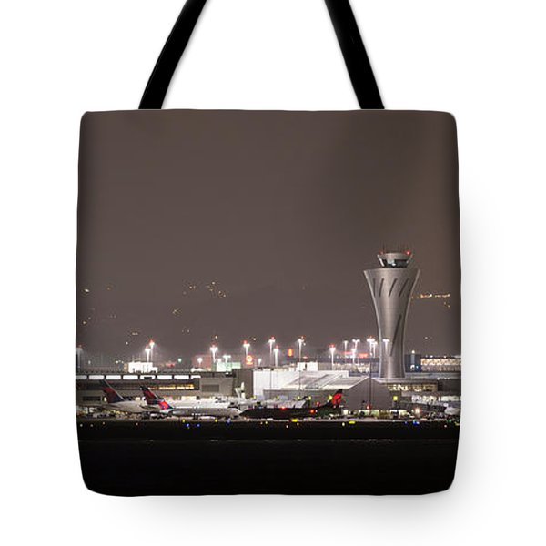 Tote Bag featuring the photograph Night Operations by Alex Lapidus