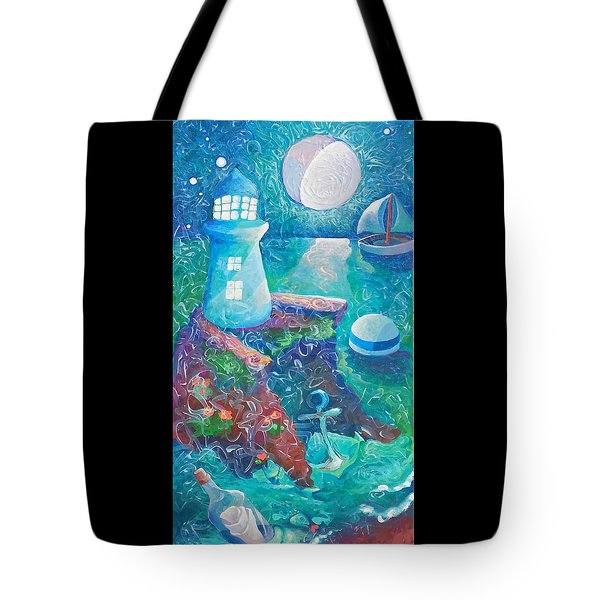 Night Out At Sea Tote Bag