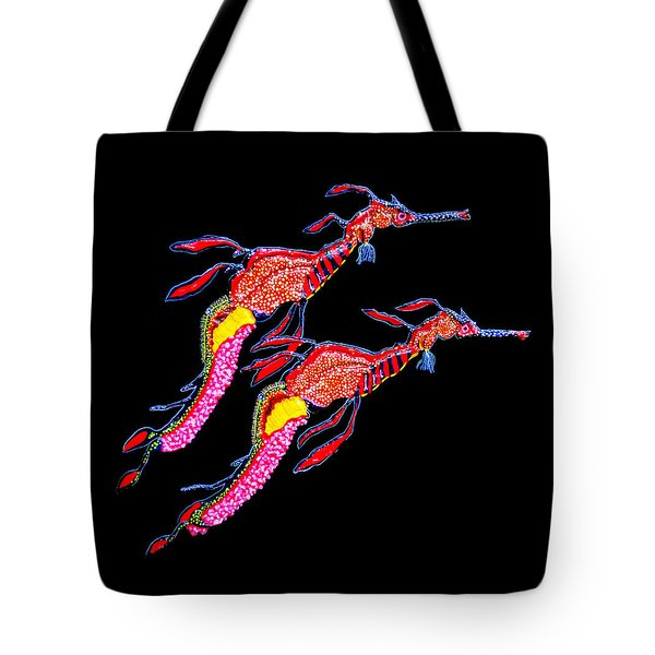 Tote Bag featuring the painting Night Patrol by Debbie Chamberlin
