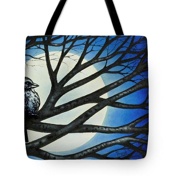 Night Perch Tote Bag
