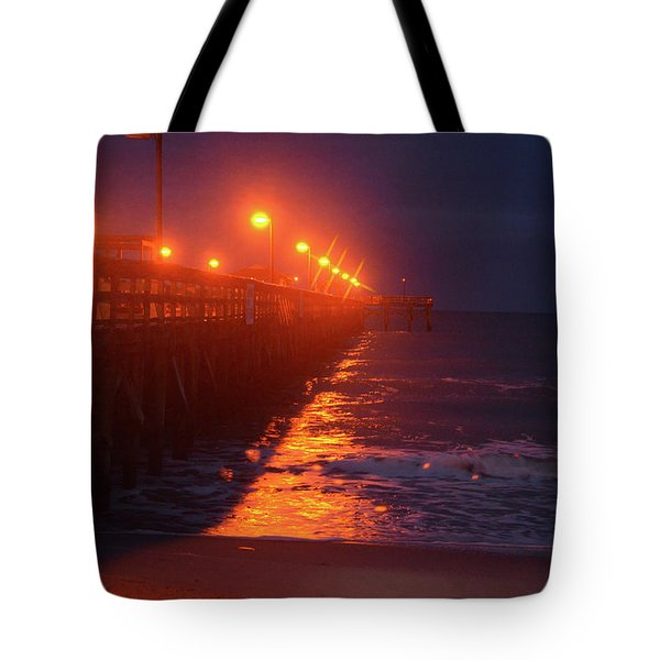Night Pier Tote Bag