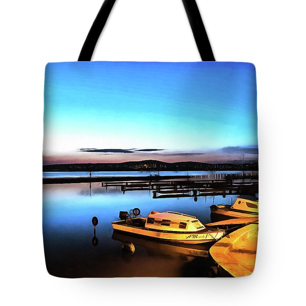 Night Port Painting Tote Bag