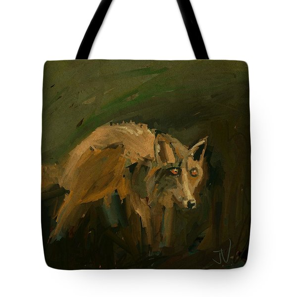 Tote Bag featuring the digital art Night Prowler by Jim Vance
