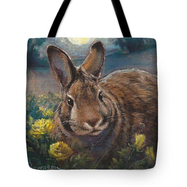 Night Rabbit II Tote Bag