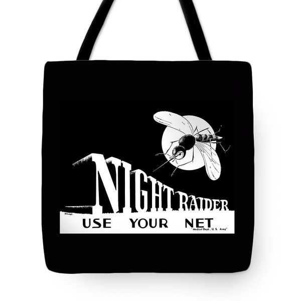 Night Raider Ww2 Malaria Poster Tote Bag by War Is Hell Store