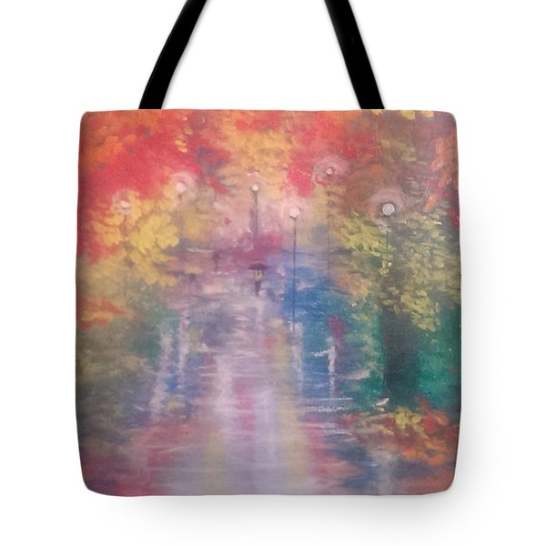 Night Reflections 4 Tote Bag by Judi Goodwin