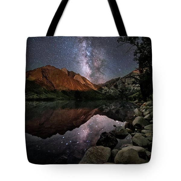 Tote Bag featuring the photograph Night Reflections by Melany Sarafis
