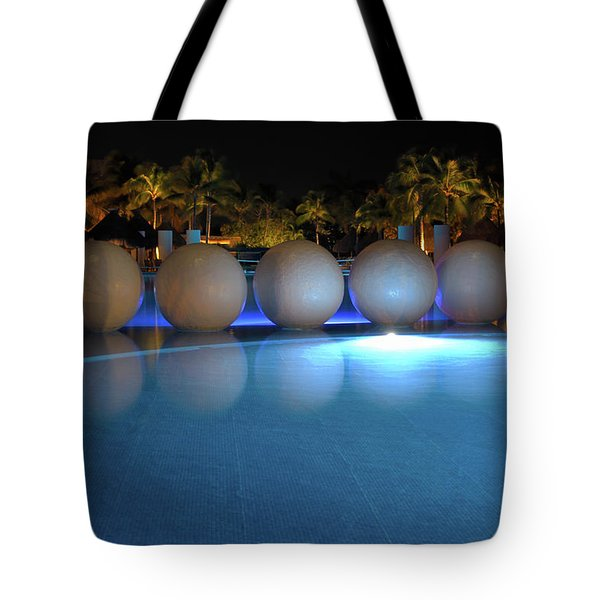 Tote Bag featuring the photograph Night Resort by Shane Bechler