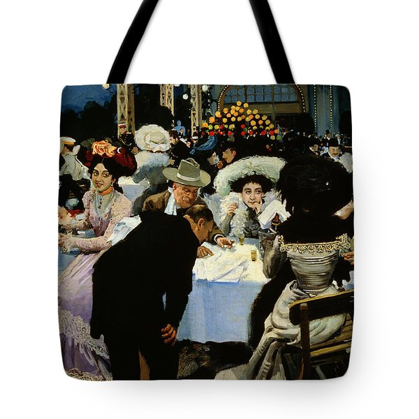 Night Restaurant Tote Bag by MG Slepyan
