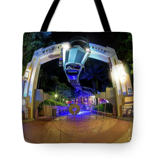 Night Ride On The Rock And Roll Coaster Tote Bag