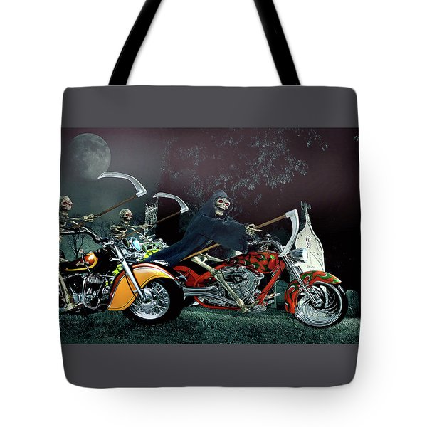 Night Riders Tote Bag by Steven Agius