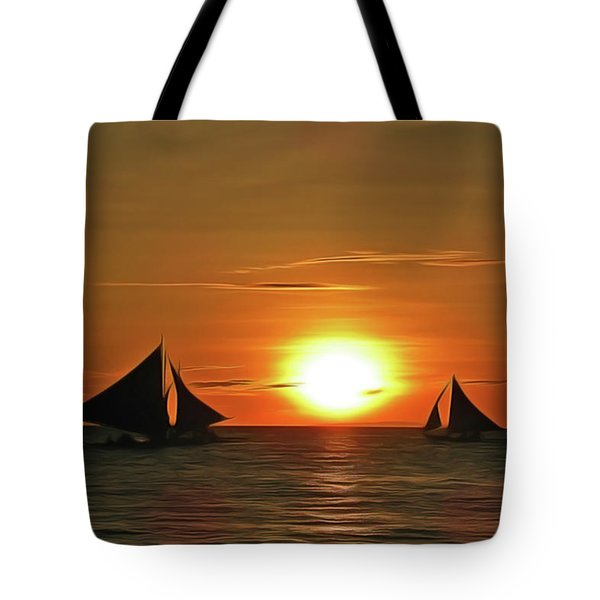 Night Sail Tote Bag