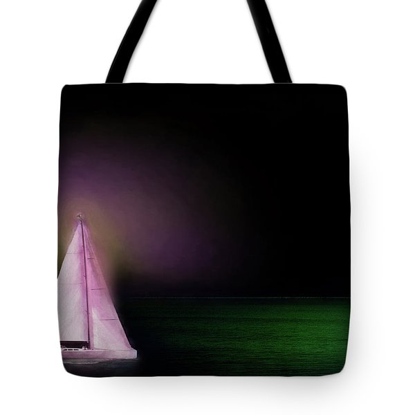 Night Sailing Tote Bag by Michael Cleere