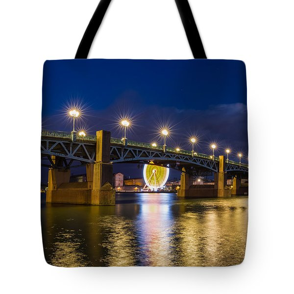 Tote Bag featuring the photograph Night Shot Of The Pont Saint-pierre by Semmick Photo