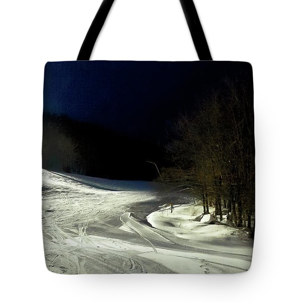 Tote Bag featuring the photograph Night Skiing At Mccauley Mountain by David Patterson