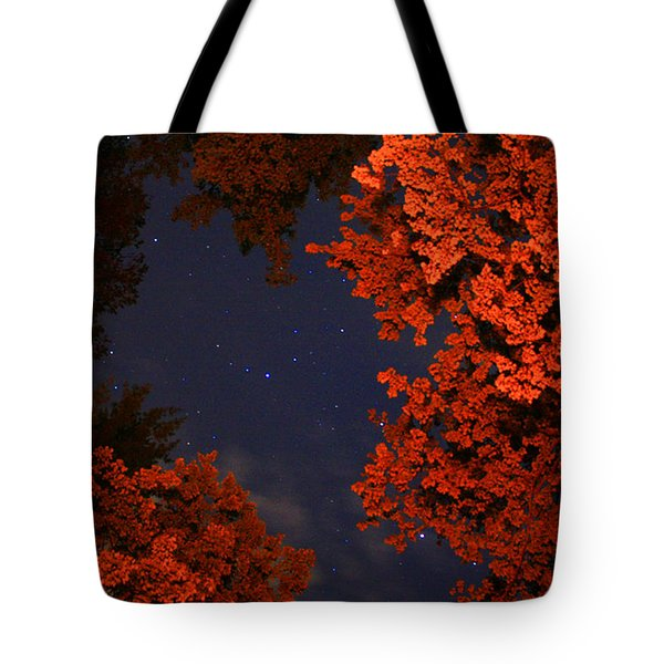 Night Sky By The Campfire Tote Bag by Gray  Artus
