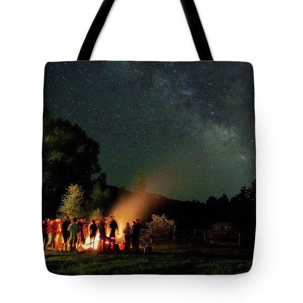 Night Sky Fire Tote Bag