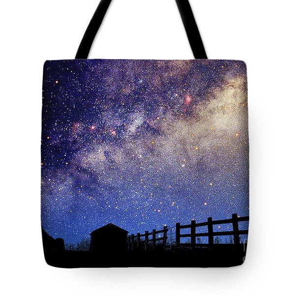 Night Sky Tote Bag by Larry Landolfi and Photo Researchers