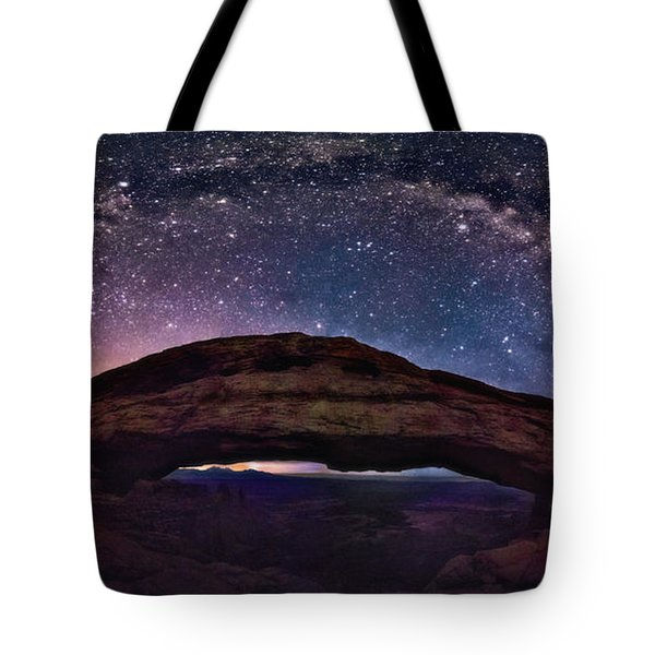 Night Sky Over Mesa Arch Utah Tote Bag